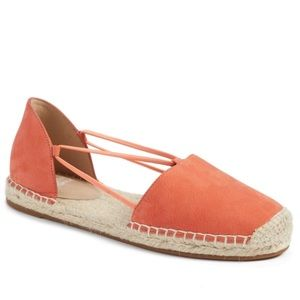 Eileen Fisher d'orsay espadrille leather flat